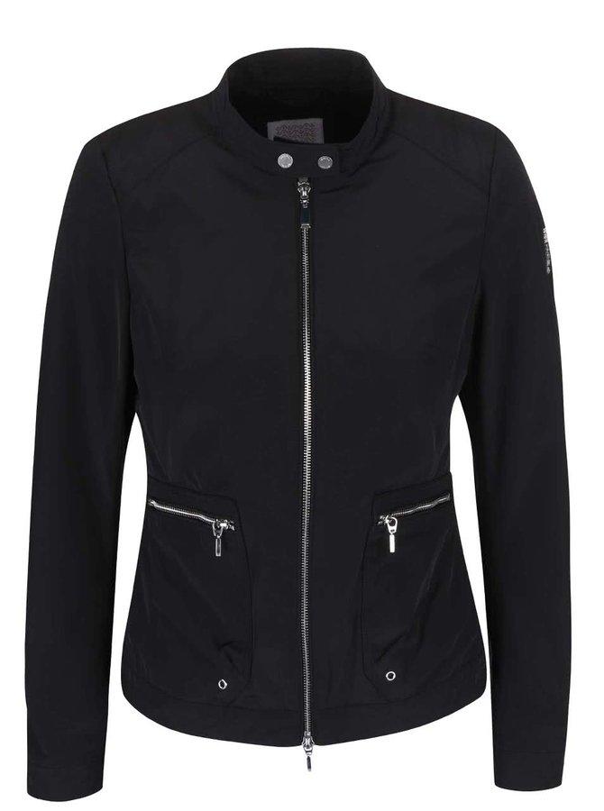 Jachetă de damă Geox neagră, impermeabilă