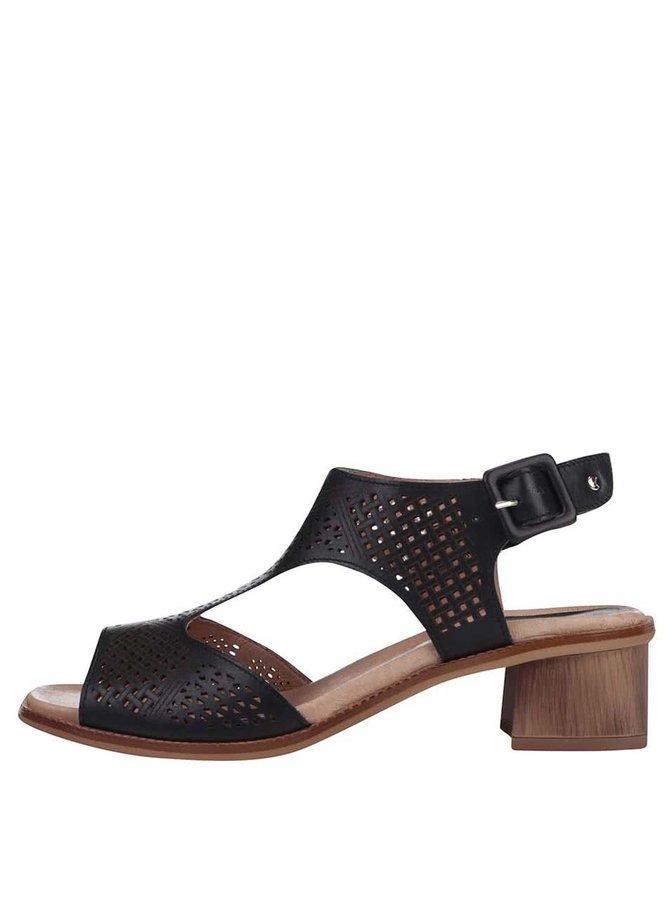 Černé sandálky na podpatku Pikolinos Polinesia