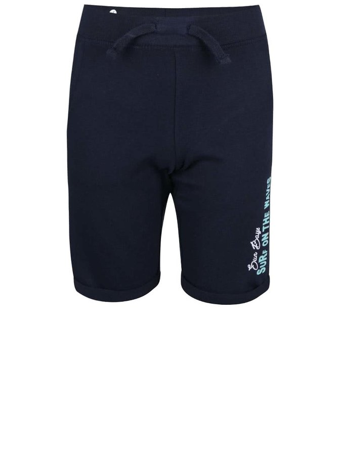 Tmavomodré detské teplákové kraťasy Blue Seven