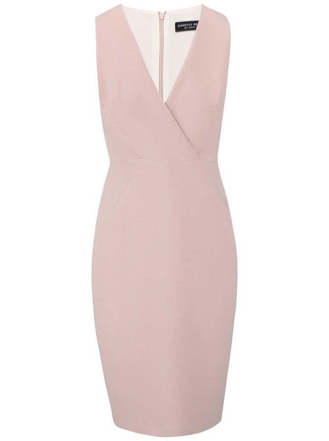 Světle růžové šaty se zipem na zádech Dorothy Perkins