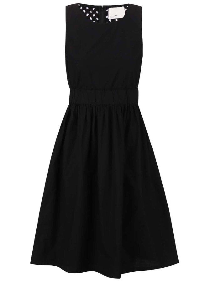 Černé šaty bez rukávů Vero Moda Libby