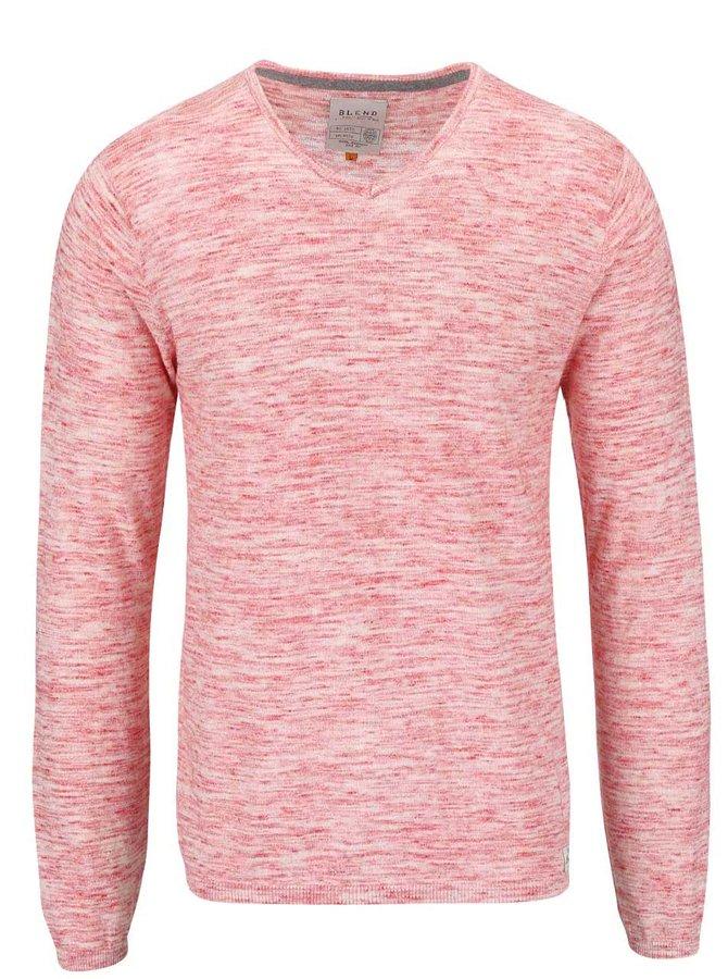 Červený žíhaný tenký sveter Blend