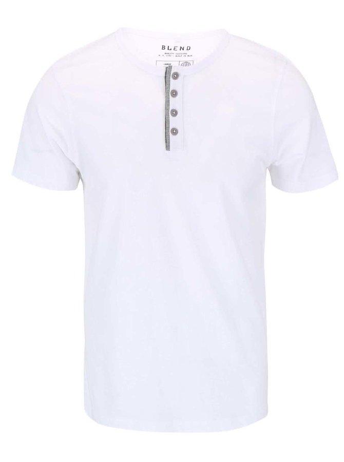 Biele tričko s gombíkmi Blend