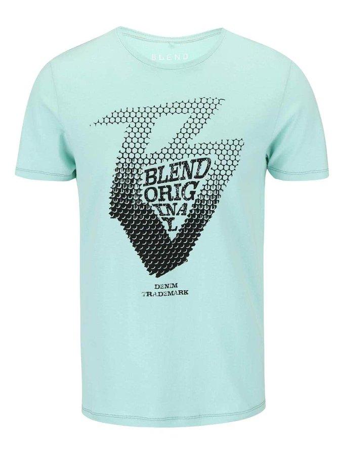 Svetlozelené tričko s potlačou Blend