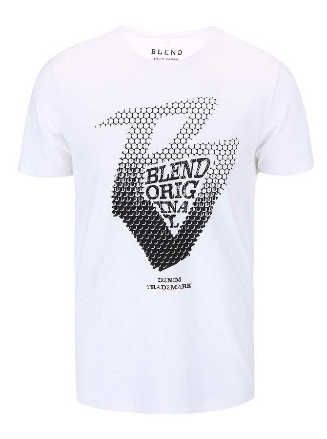 Tricou Blend de culoare albă printat