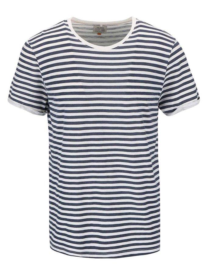 Tricou Blend navy/albastru, cu dungi