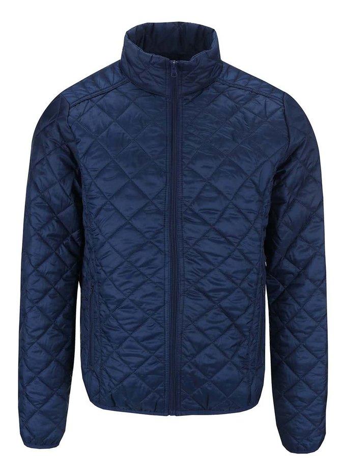 Jachetă Blend albastră, matlasată