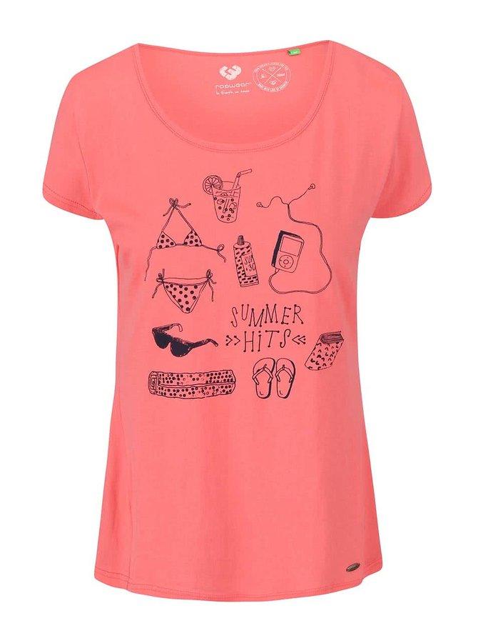 Koralové dámske tričko Ragwear Sugar Organic
