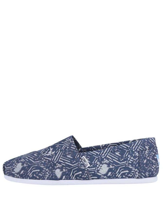 Modré pánské vzorované loafers TOMS Alpargatas