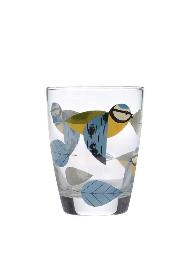 Pahar Magpie Blue Tit cu păsări
