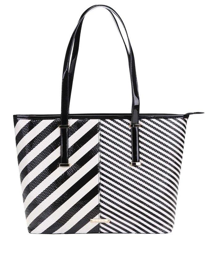 Čierno-biely pruhovaný shopper LYDC