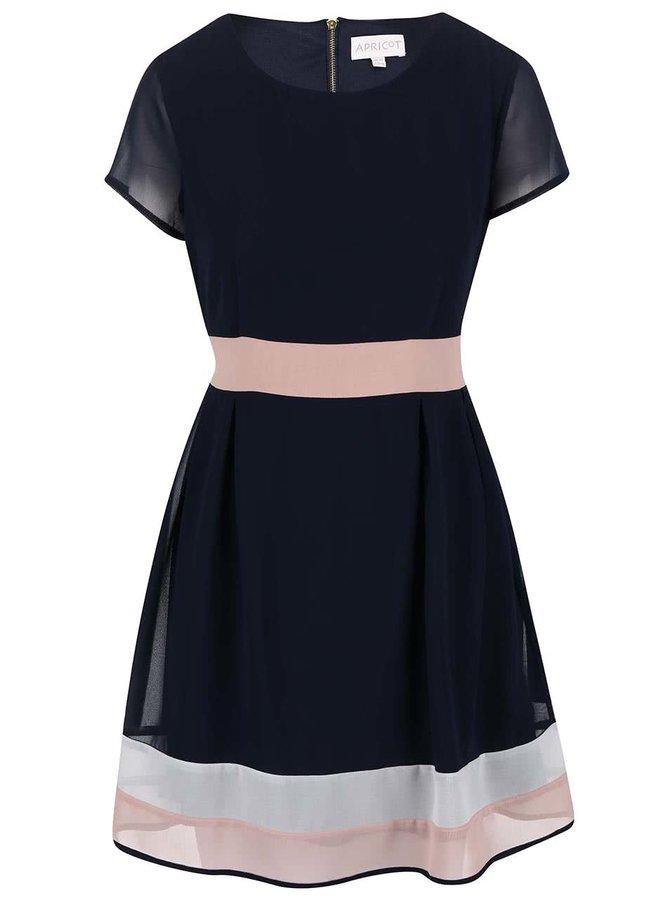 Rochie Apricot de culoare roz/albastru