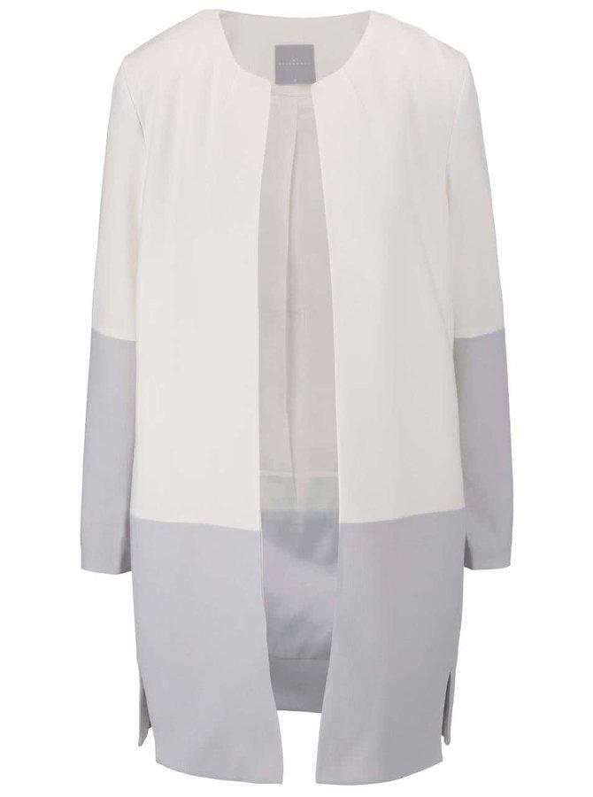 Sivo-krémový kabát YAYA