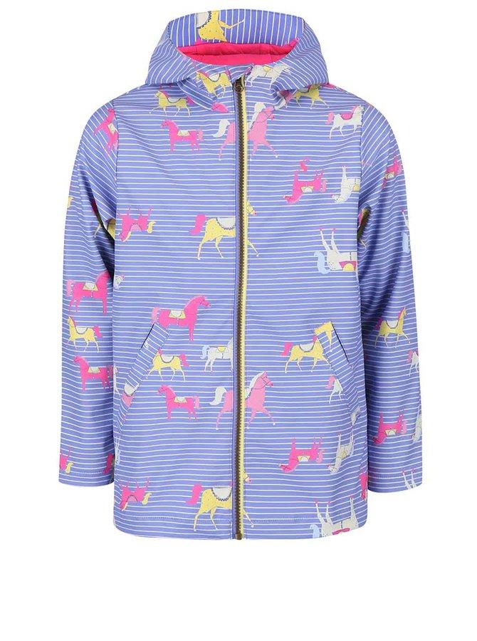 Svetlofialová dievčenská nepremokavá bunda Tom Joule