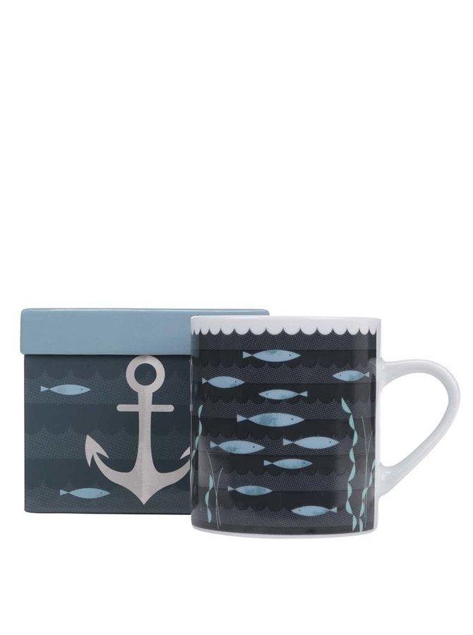 Cană de porțelan și cutie cadou, Magpie Anchor Ahoy!