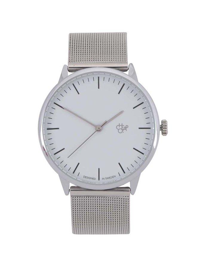 Unisex hodinky ve stříbrné barvě Cheapo Nando Silver