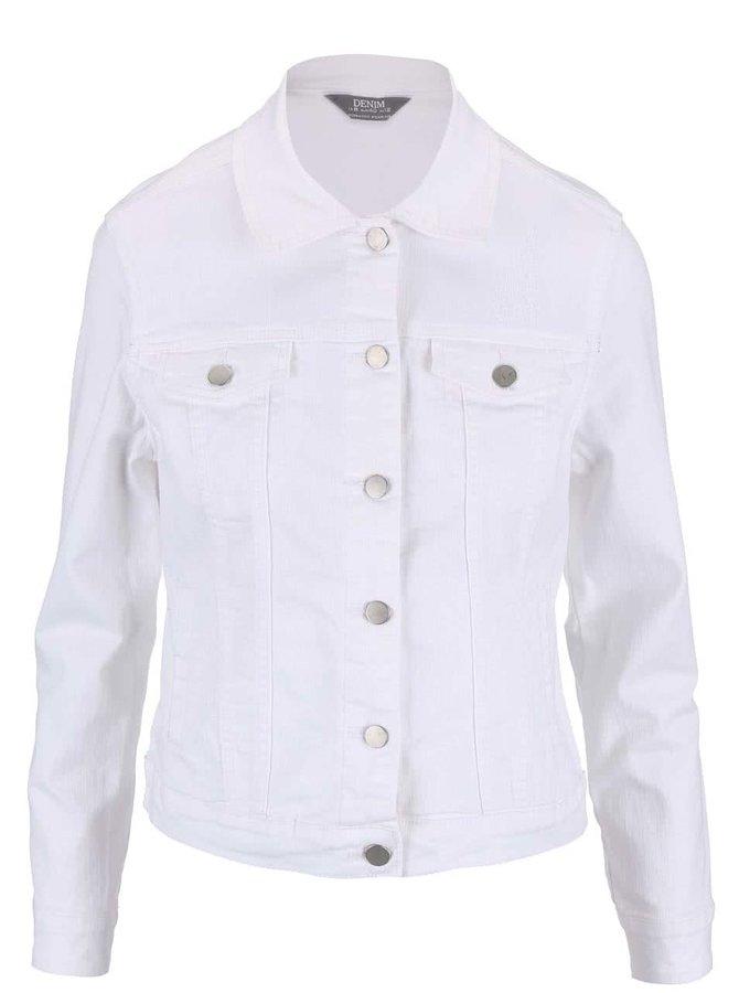 Bílá džínová bunda s defekty Dorothy Perkins