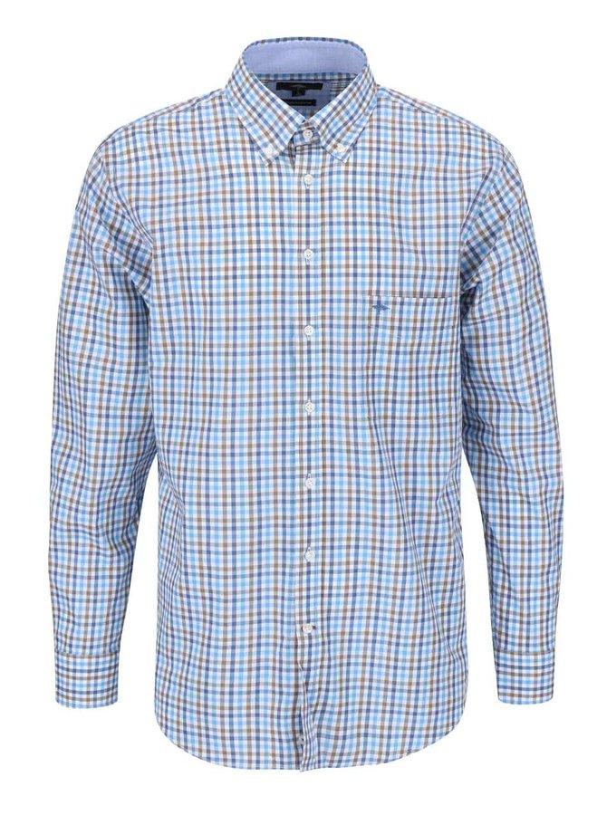 Modrá kockovaná košeľa Fynch-Hatton