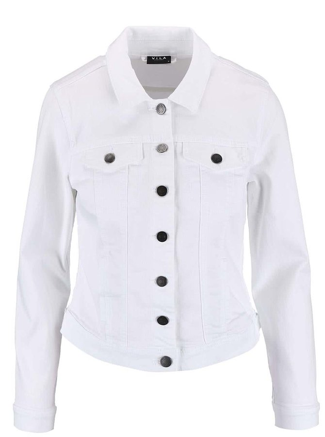 Biela rifľová bunda VILA Per