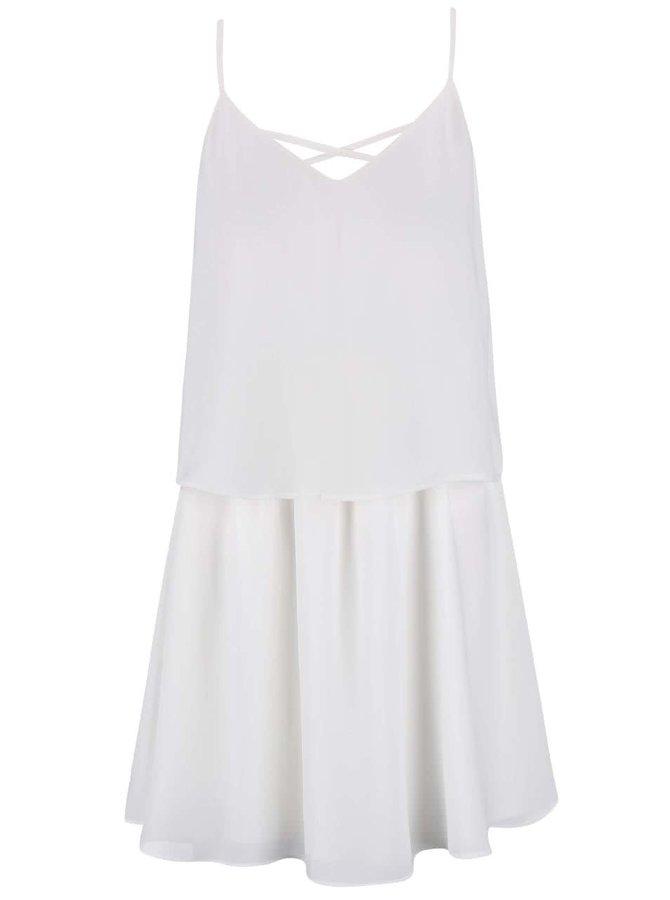 Bílé šaty na ramínka VILA Sora