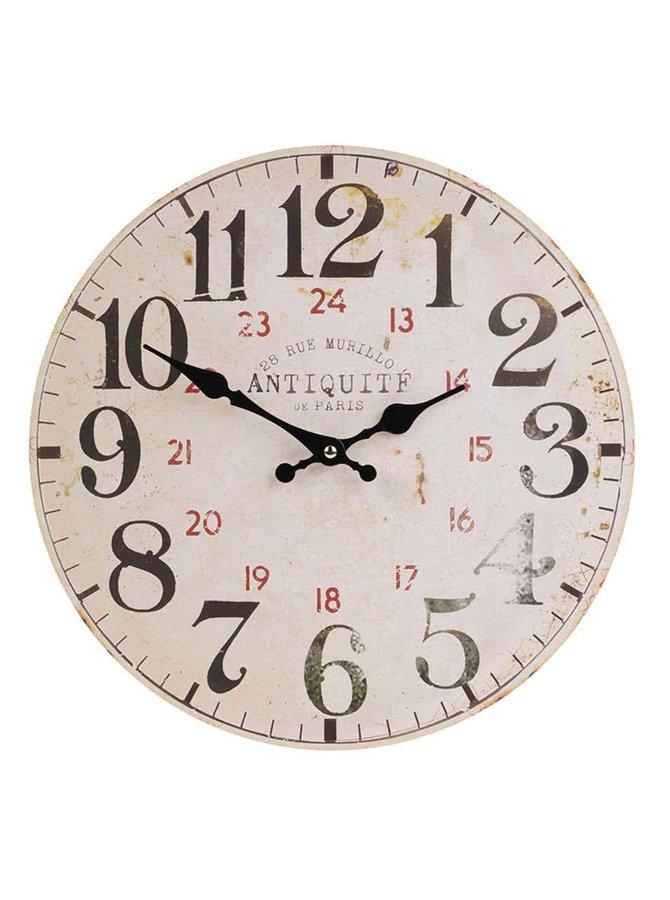Dřevěné vintage hodiny Dakls