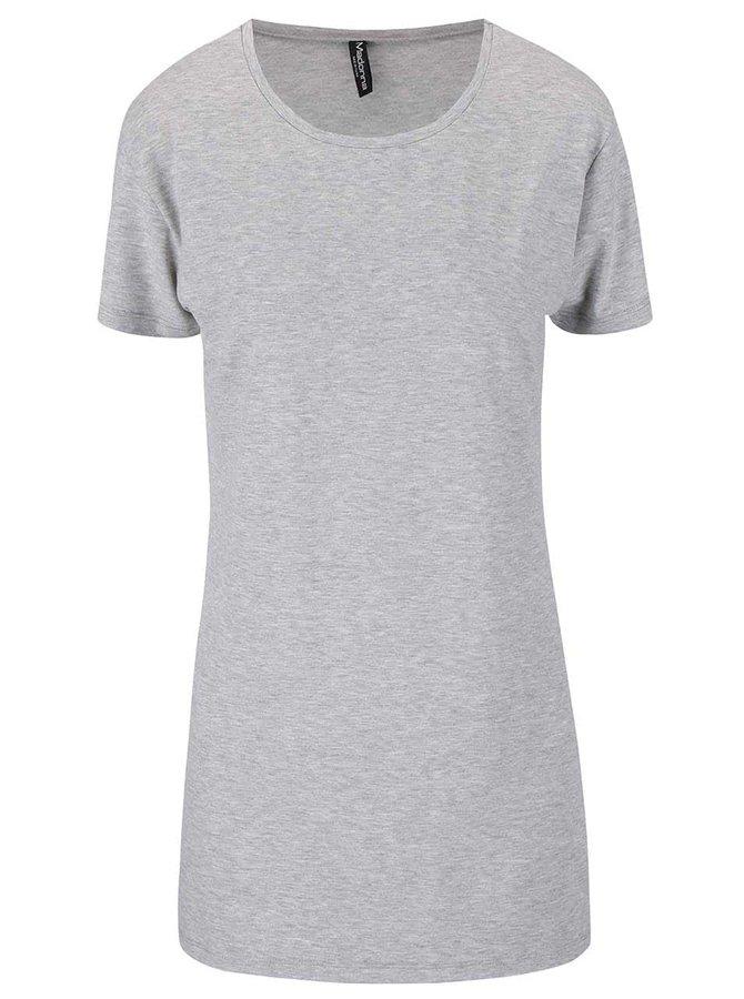 Sivé dlhšie tričko s rozparkom Madonna