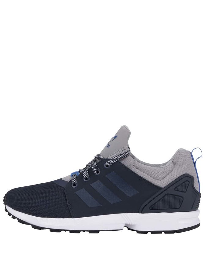 Šedo-modré pánské tenisky adidas Originals ZX Flux NPS UPDT