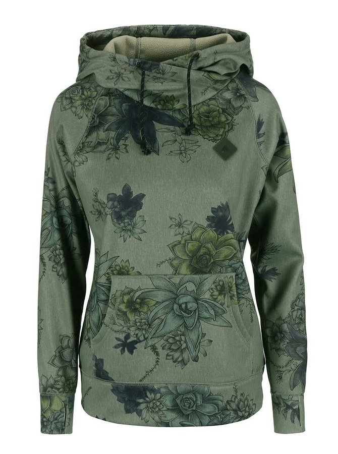 Hanorac Burton Heron, verde, cu imprimeu floral