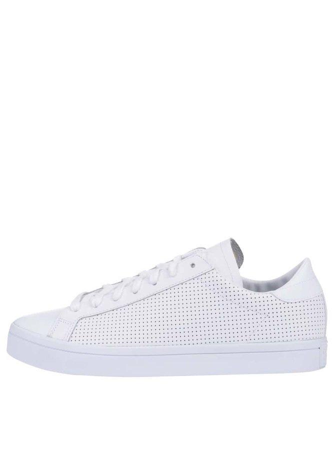 Bílé pánské kožené tenisky adidas Originals Court Vantage