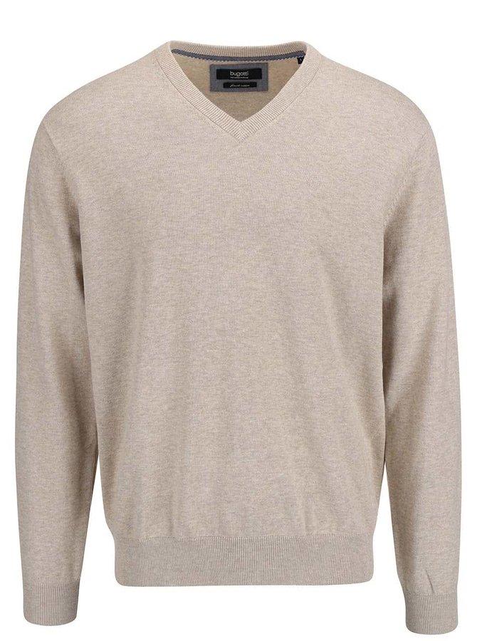 Béžový pánsky sveter bugatti