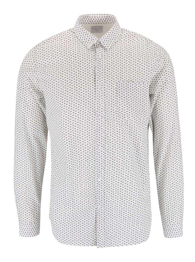 Bílá košile se vzorem Selected Homme One Benson