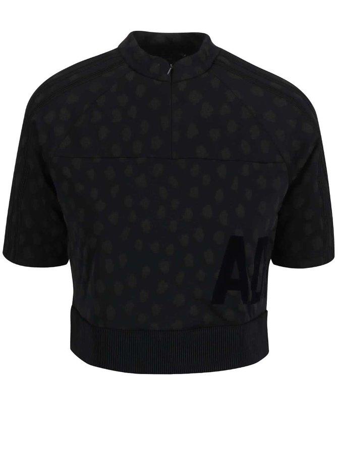 Čierne dámske krátke tričko adidas Originals