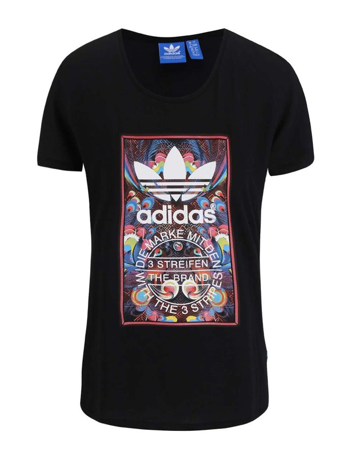 Tricou de damă adidas Originals Bird Tongue negru