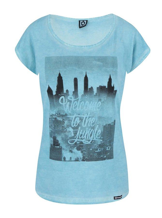 Modré tričko s potiskem Horsefeathers The Town