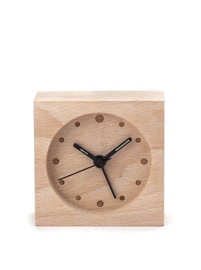 Dřevěný mini budík Kikkerland