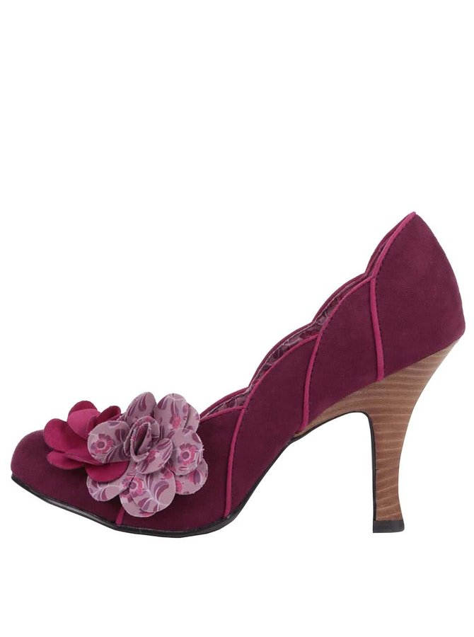 Pantofi Ruby Shoo April burgundy