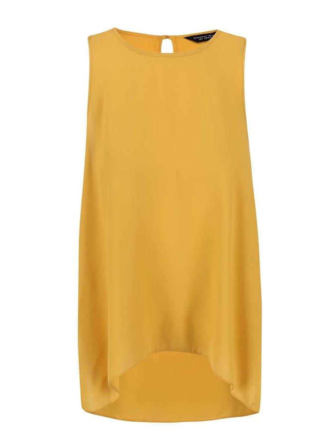 Top Dorothy Perkins de culoare galbenă lung la spate