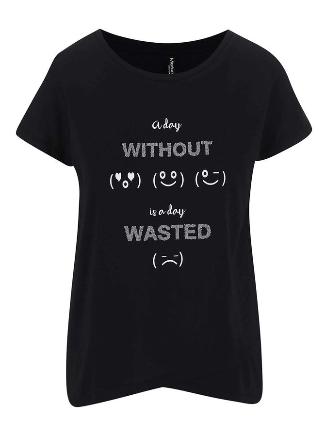 Čierne tričko s potlačou Madonna