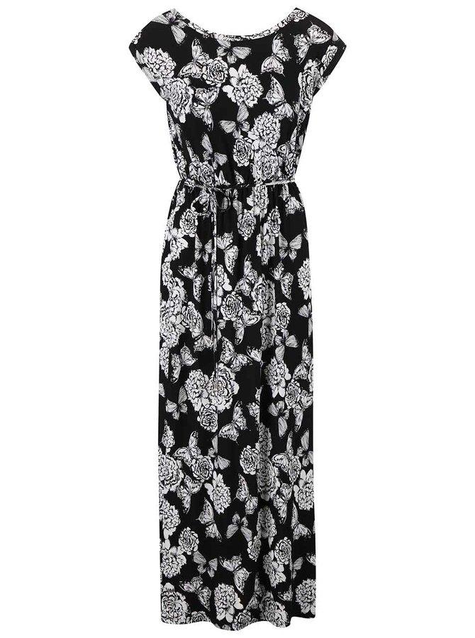 Bílo-černé vzorované maxišaty Dorothy Perkins