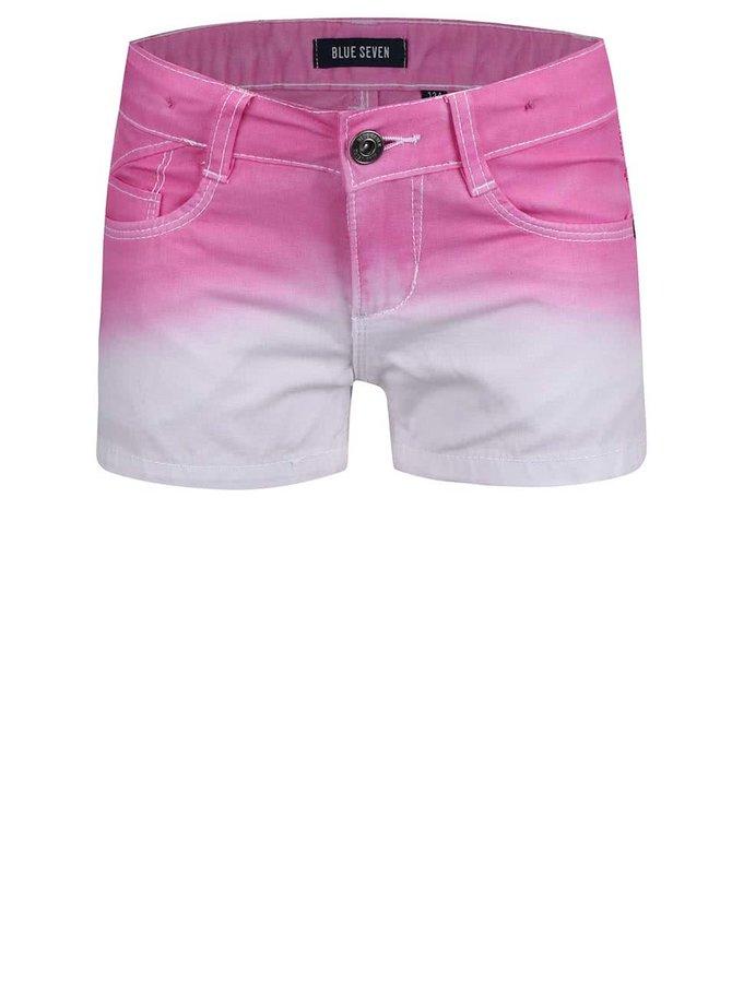 Bielo-ružové dievčenské kraťasy Blue Seven