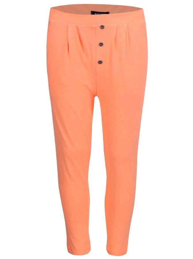 Oranžové dievčenské tepláky s flitrami Blue Seven