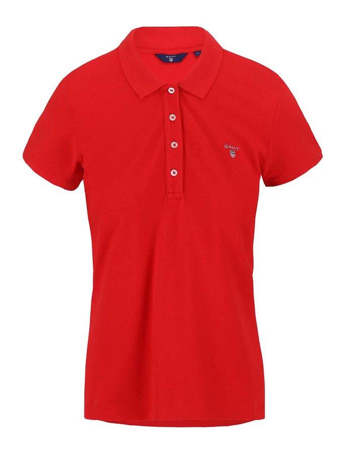 Červené dámské polo tričko s logem GANT