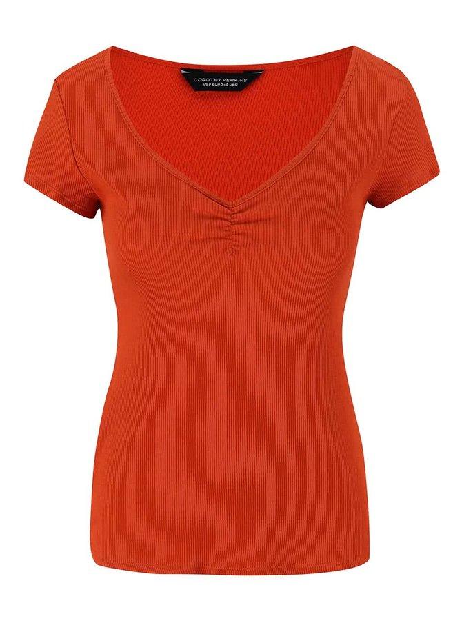 Oranžové tričko s krátkym rukávom Dorothy Perkins