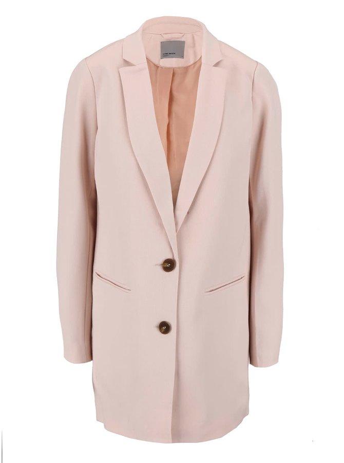 Sacou lung Vero Moda Mia roz pal