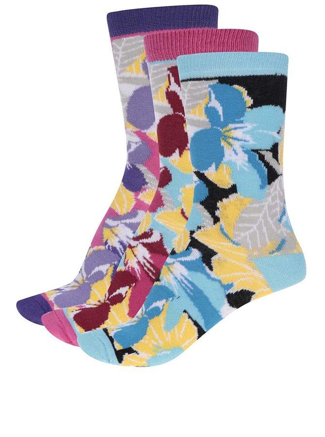 Sada tří dámských ponožek s květy Oddsocks Jess