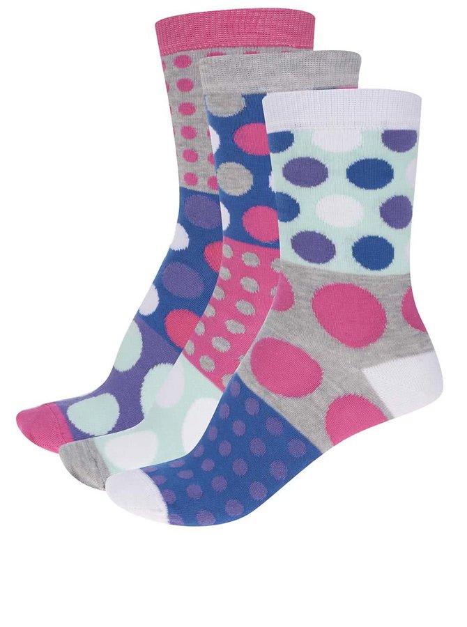 Sada troch bodkovaných dámskych ponožiek Oddsocks Ellie