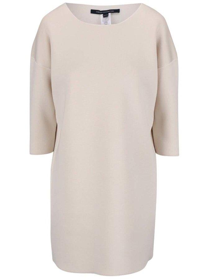 Krémové volnejšie šaty French Connection Zanzi