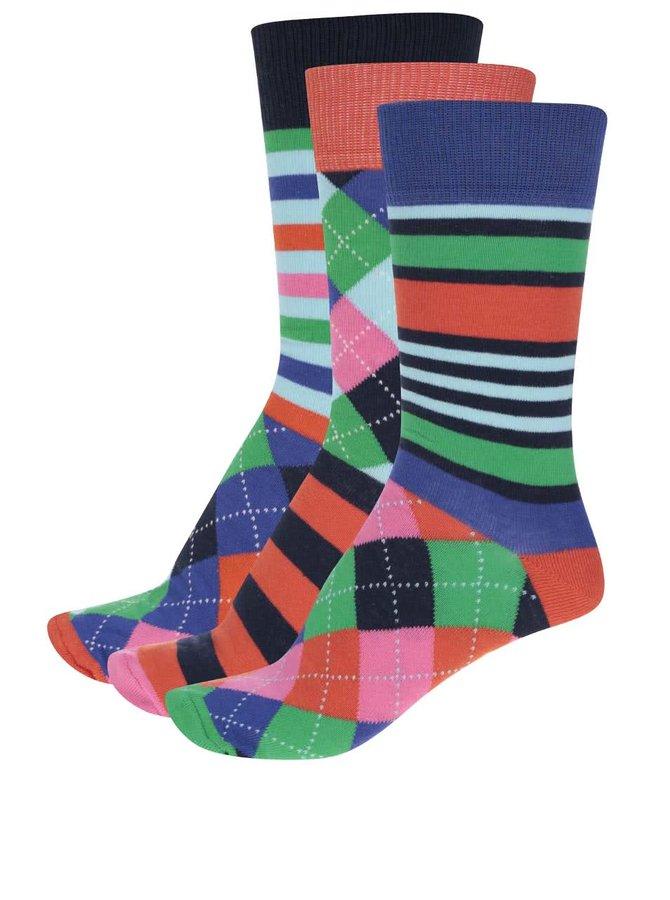 Sada tří pánských barevných ponožek Oddsocks Olly