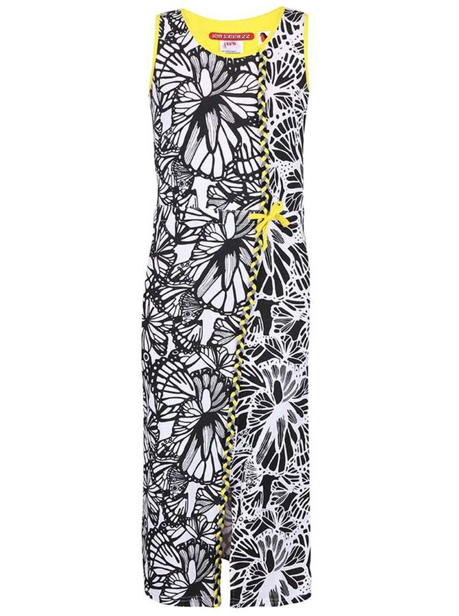 Rochie LoveStation 22 Lotte alb cu negru