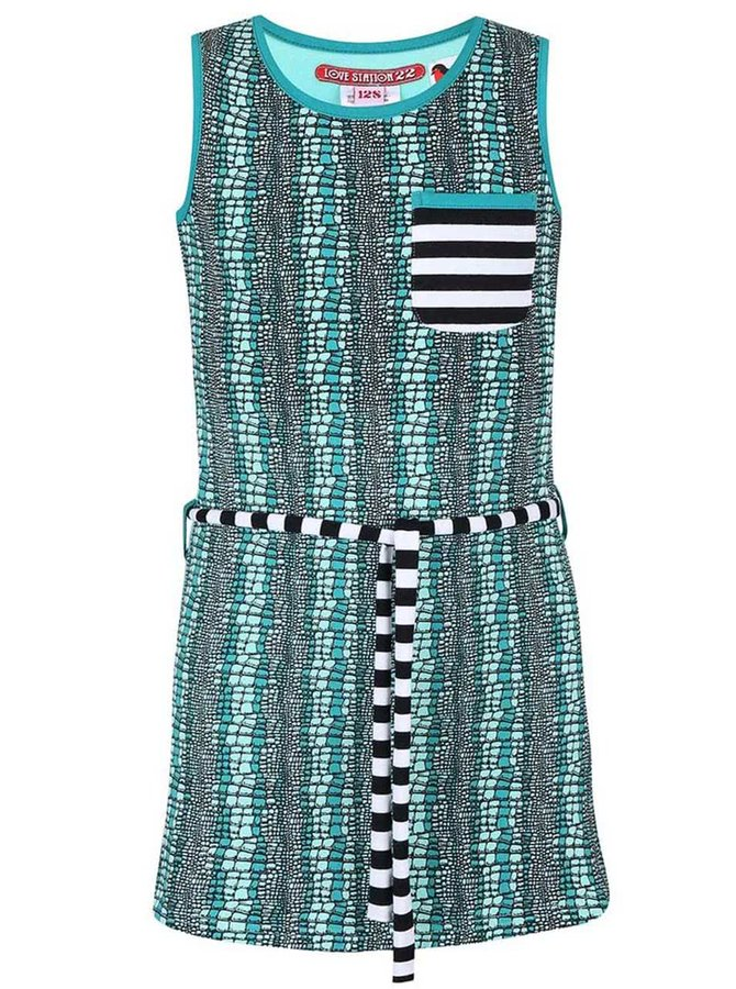 Tyrkysové vzorované holčičí šaty LoveStation22 Saar